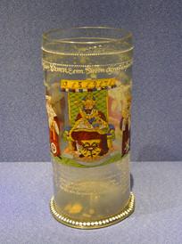 欧洲描罗马帝国皇帝玻璃啤酒杯
