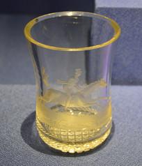 欧洲骑士骑马纹玻璃大酒杯