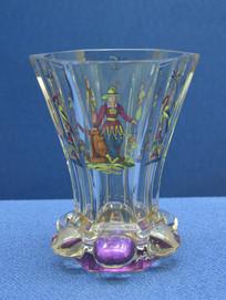 欧洲人物纹玻璃大酒杯