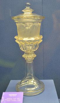 欧洲有盖高脚玻璃酒杯