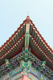 中式卯榫结构屋檐
