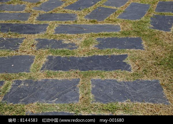 草地石板高清图片下载 红动网