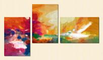 抽象三联画 三联抽象油画