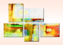 抽象无框画