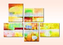 抽象无框画组合套画