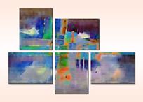 抽象油画极简风格无框画