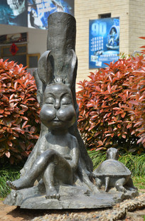 雕像寓言故事龟兔赛跑