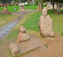 雕像寓言故事黄香扇枕