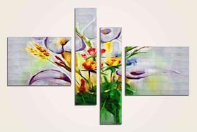 花卉无框画 四联无框画