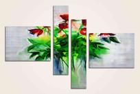 极简风格花卉装饰画无框画