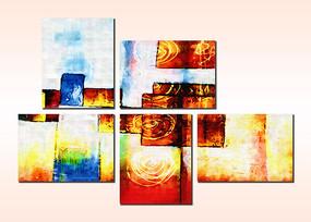 色块无框画 抽象画