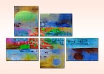 现代风格无框画抽象油画装饰画