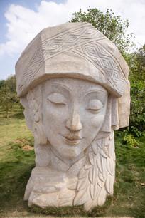 彝族金花石雕