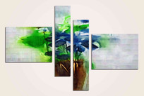 油画抽象画组合装饰画