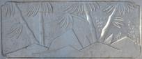 石桥上的雕刻图案竹子