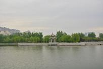 睢县北湖湖上亭廊