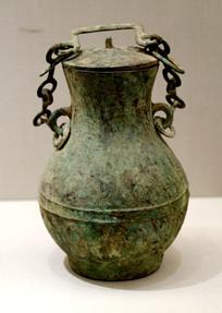 战国时期铜提梁壶