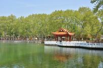 蚌埠市大塘公园水上亭楼