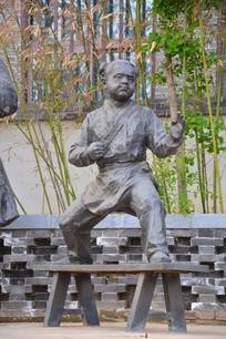雕像宋代习武男童