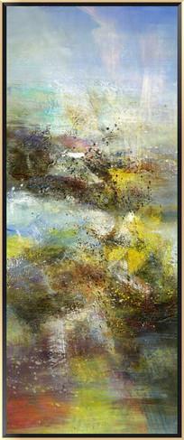 竖版抽象油画装饰画