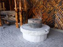 传统的石磨