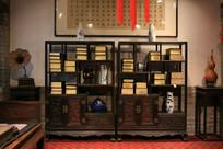 传统古典建筑书房书架
