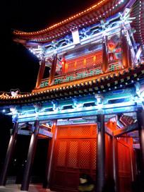 灯火辉煌的状元楼