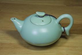 汝窑瓷如意茶壶
