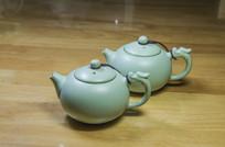 汝窑瓷西施茶壶