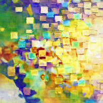 色块抽象油画