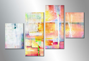 现代四联装饰画