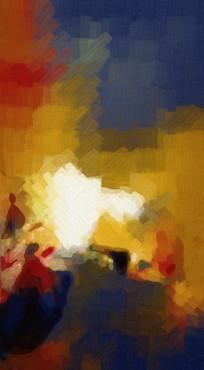 现代无框画抽象画
