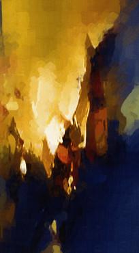 油画抽象画 无框画