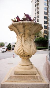 古典花瓶石雕