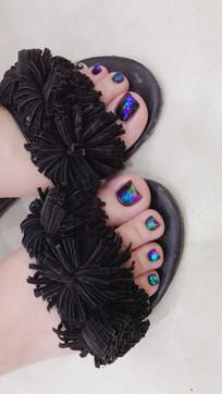 脚指甲美甲宣传