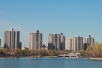 高层民居和园林水景