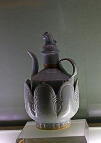 古代酒器青莲形温酒壶