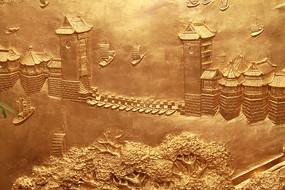 金漆木雕古代城楼