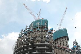 在建的丽泽SOHO大楼