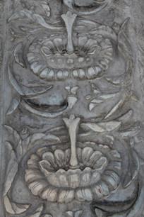 砖雕菊花花纹