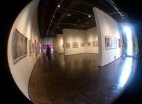 青岛美术馆的室内风景