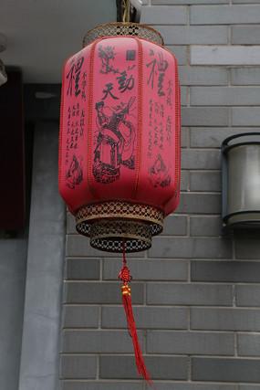 八角形柱状红灯笼