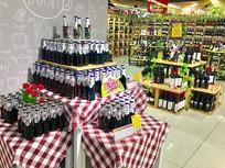 超市红酒专区