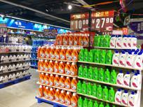 超市洗发水货架