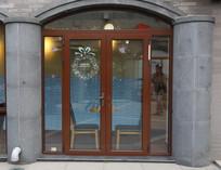 拱形金属边玻璃门