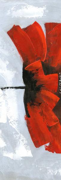 花卉抽象油画