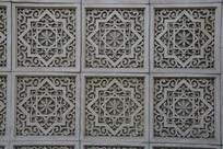 嵌套式花纹砖雕背景