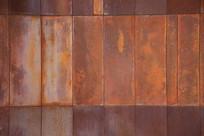 生锈的钢板块背景墙