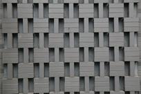 亚字形青砖背景墙