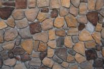褐色石块无抹缝背景墙